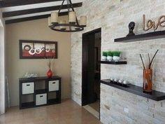 Imagen 6 Deco Furniture, Modern Interior Design, Home Organization, Floating Shelves, Color Schemes, Sweet Home, Kitchen Cabinets, Living Room, House