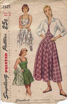 Vintage 1940's Women's Playsuit with Bolero by AtomicRegeneration, $12.62