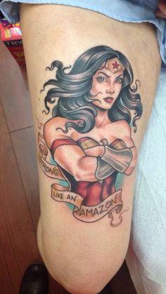 Tatouage Wonder Woman : 25 jolis motifs de l'héroïne - 19