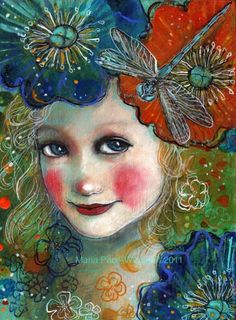 Dragonfly Dreams, painting by artist Maria Pace-Wynters