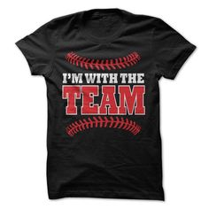 Im With the Team Baseball / Softball T-Shirt - #day gift #gift exchange. SAVE  => https://www.sunfrog.com/Sports/Im-With-the-Team-Baseball--Softball-T-Shirt.html?id=60505