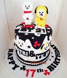 Сколько стоит 14th Birthday, Birthday Parties, Bts Cake, Cake Land, Bithday Cake, Bts Birthdays, Sweet 16 Cakes, Dessert Recipes, Desserts