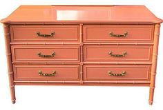 Bali Hai Coral Faux-Bamboo Chest from One Kings Lane. Shop more products from One Kings Lane on Wanelo. Bamboo Furniture, Refurbished Furniture, Colorful Furniture, Furniture Makeover, Vintage Furniture, Cool Furniture, Painted Furniture, Furniture Ideas, One Kings Lane