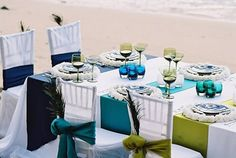 wedding on the beach By Weddings Fresh -- see more at LuxeFinds.com