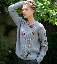 Flower Sweater - Keith Dama, No.167 Autumn 2015 / 毛糸だま 2015年秋号 No.167 掲載作品ギャラリー|毛糸だまWeb|日本ヴォーグ社の本