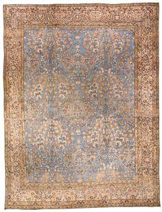 Persian rugs: Persian rug (antique) rug in blue color, oriental rug, oriental pattern for modern, elegant interior decor, rug in living room #rug #persianrug