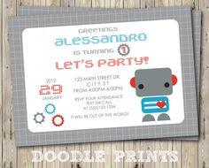 Printable+Robot+Birthday+Party+Invitation+++by+doodleprints,+$8.00