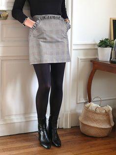 Tutoriel : la jupe droite avec poche à volant