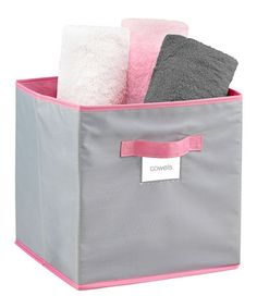 Take a look at this Feather Gray Medium Storage Cube by The MacBeth Collection on #zulily today!