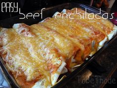 Easy Beef Enchiladas... pinning all those easy meals so I can throw away all my paper recipes!!!