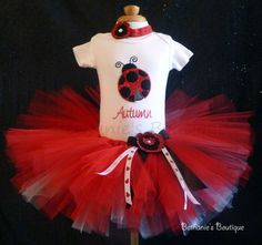 Red Ladybug Tutu Set. Red Sparkle. Customize any by TooTuTuCute, $49.95