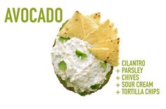 Cilantro   Parsley   Chives   Sour Cream   Tortilla Chips | 17 Impossibly Satisfying Avocado Snacks
