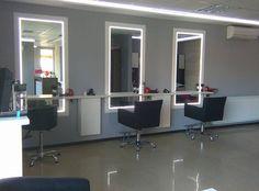 Salon Amarant. Isadora styling chairs. Salon Ideas from Ayala salon furniture. Modern salon design.