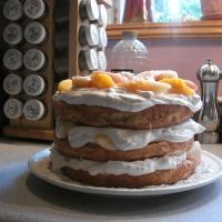 Decadent Fresh Peach Cake Recipe. Seriously AMAZING!