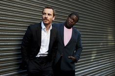 Michael Fassbender and Steve McQueen by Charlie Gray