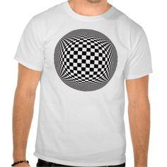 Black White optical illusion Tee Shirt