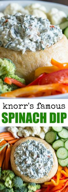 This Knorr Spinach Dip Recipe is the classic versi… (healthy dip recipes) Appetizer Dips, Appetizers For Party, Appetizer Recipes, Simple Appetizers, Appetizer Dessert, Tapas Recipes, Cold Appetizers, Recipies, Recetas Knorr