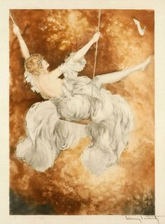 Swing, Louis Icart. French Illustrator (1888 - 1950)