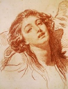 Jean-Baptiste Greuze's Head of a Woman (private collection, c. 1765)