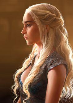 spyrale:  Daenerys Targaryen by Abraham Y