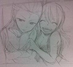 Fairy Tail - Aquarius and Lucy sketch Fairy Tail Drawing, Fairy Tail Art, Fairy Tail Ships, Fairy Tail Anime, Fairy Tales, Fairy Tail Girls, Fairy Tail Couples, Super Manga, Anime Echii
