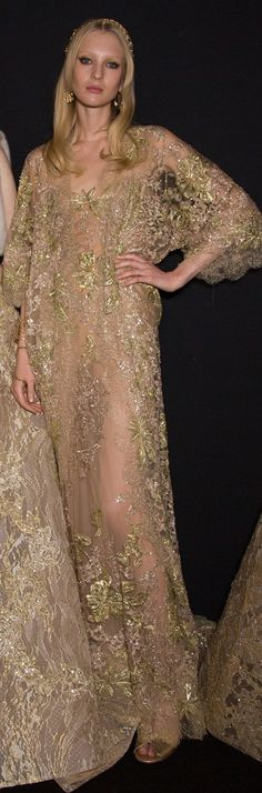 Elie Saab FW 2015 couture gold dress
