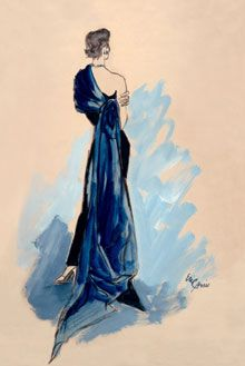 Eric illustration of a 1950 Schiaparelli. Courtesy of Condé Nast Archives.