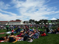 Off the Grid: Picnic in the Presidio - A seasonal weekly food truck gathering in the Presidio, part of the National Park Service. Also offers picnic blanket-side booze cocktail deliveries!