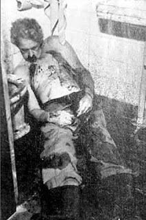 Gustav Wagner - SS sergeant who selected victims at Dachau and Sobibor - death photo after committing alleged suicide in Sao Paulo, Brazil