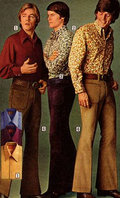 """I guess you'd have to have been there… boys to men fashion (students) Shoulda seen my """"Lucky Shirt""""! I guess you'd have to have been there… boys to men fashion (students) Shoulda seen my """"Lucky Shirt""""! 1980s Fashion Trends, 70s Inspired Fashion, Seventies Fashion, Retro Fashion, Trendy Fashion, 1970s Fashion Men, Men's Fashion, British Fashion, Fashion Studio"""