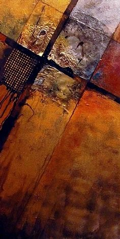 """IGNITION POINT"" 10168 by Carol Nelson mixed media ~ 30 x 15"
