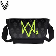 Buy now VEEVANV 2017 Watch Dogs 2 Marcus Holloway Printing Messenger Bags Fashion Watch Dogs 2 Game Casual Shoulder Bags For Children just only $14.99 with free shipping worldwide  #crossbodybagsformen Plese click on picture to see our special price for you