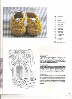 Crochet baby bootties