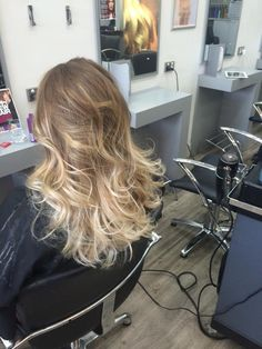 62cb9c6878 glossy shiny healthy creamy natural looking Balayage created by Sharn at  Newmarket usuing goldwell and kms
