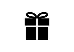 Simple Present Box Vector Icon