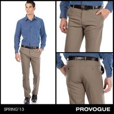 The key to power dressing is keeping it simple and classy! Just pair these elegant beige trousers from Provogue with a well-fitted shirt for a polished look. Check them out at a Provogue Store near you.