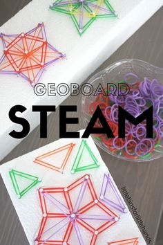 Star shaped geoboard activity using styrofoam for STEAM