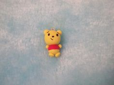 Cute Whinnie The Poo Polymer Clay Charm. $2.50, via Etsy.