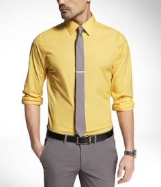 Men's Long Sleeve Shirt Casual Slim Fit – Inspired By The Best Formal Dresses For Men, Formal Shirts For Men, Men Formal, Formal Wear, Fashion Business, Business Casual Men, Men Casual, Interview Outfit Men, Ropa Semi Formal