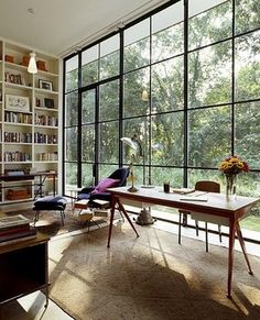 Summer Friday Office Goals by NY architect @michaelhaverland. To work and design in front of those windows...