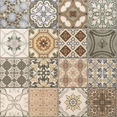 Vintage Decor Rustic Provence rustic tiles are beautiful country tiles which can be used as either wall or floor tiles. These decor tiles have been designed to co-ordinate with either the grey or terracotta tiles to create individual tile designs. Glass Tile Backsplash, Kitchen Wall Tiles, Bathroom Floor Tiles, Wall And Floor Tiles, Kitchen Flooring, Patterned Kitchen Tiles, Flooring Tiles, Bathroom Shelves, Geometric Patterns