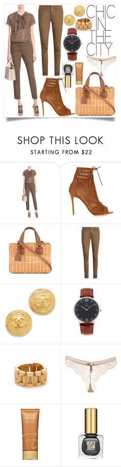"""""""Chic in the city"""" by camry-brynn ❤ liked on Polyvore featuring Etro, Gianvito Rossi, Mark Cross, Balmain, Kapten & Son, Amber Sceats, Maison Close and Jane Iredale"""