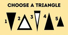 Le triangle que tu choisiras en dira long sur toi Brain Teasers Riddles, Le Triangle, Tricky Riddles, Camping Activities For Kids, Outdoor Activities, Plank Workout, Trending Topics, Getting To Know You, Photo Tricks