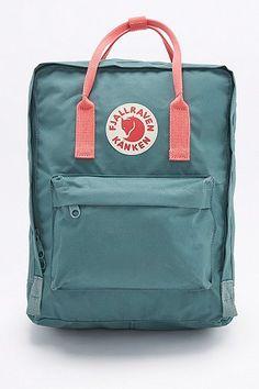 Fjallraven Kanken Classic Forest Green and Pink Backpack