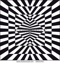 Op Art, auch als optische Kunst Stock-Vektorgrafik (Lizenzfrei) 94025794 - Op art, also known as optical art, is a style of visual art that makes use of optical illusions - Optical Illusion Quilts, Cool Optical Illusions, Art Optical, Illusion Kunst, Illusion Drawings, Illusion Art, Geometric Quilt, Geometric Art, Op Art Lessons