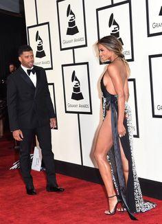 Pin for Later: 28 Moments Mode des Grammy Awards à Ne Pas Manquer Le Petit Ami de Ciara Était Visiblement Fan de Sa Robe