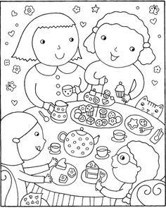 Dover Color & Cook Tea Party 5