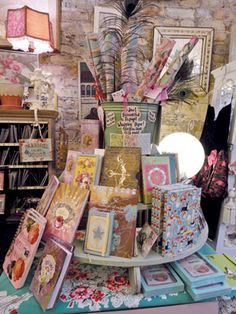 Stationery displays can't simply be papered over. You need fresh ideas to create displays that are vibrant and cross-merchandised effectively. Gift Shop Displays, Vendor Displays, Craft Booth Displays, Merchandising Displays, Store Displays, Display Ideas, Retail Displays, Booth Ideas, Visual Display