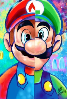 «super mario and luigi Mario Und Luigi, Super Mario And Luigi, Super Mario Art, Super Mario Games, Cartoon Kunst, Cartoon Drawings, Cartoon Art, Cute Disney Drawings, Cool Art Drawings