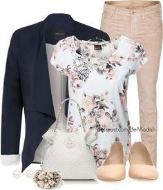 Love the look of printed top/tee under solid blazer